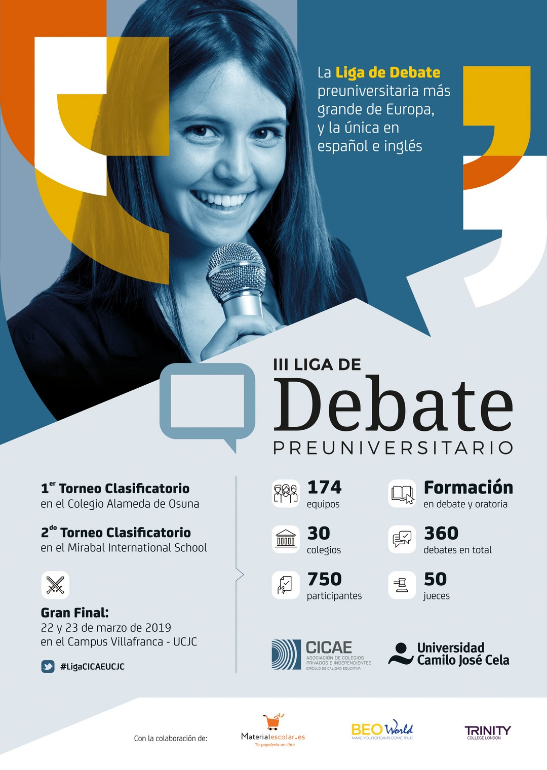 Celebramos Madrid final mayor liga debate preuniversitario Europa